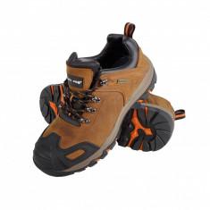 Pantofi piele intoarsa cu cauciuc Lahti Pro, maro, marimea 40