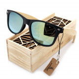 Ochelari de soare Bobo Bird CG004, lentila verde Wooden Lux