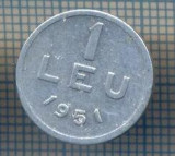 AX 793 MONEDA- ROMANIA - 1 LEU -ANUL 1951 -STAREA CARE SE VEDE