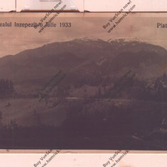 CARTE POSTALA*ROMANIA*PREDEAL INZAPEZIT-6 IULIE 1933, Circulata, Fotografie