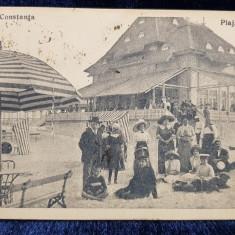 Constanta. Plaja Mamaia - CP Ilustrata