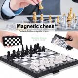 Set de șah magnetic, din plastic, cutie de șah pliabil
