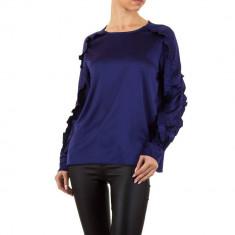 Bluza sic, de culoare bleumarin, cu volanase decorative - Emma andAshley, L, M, S