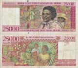 1998, 25.000 francs (P-82) - Madagascar!