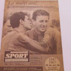 Revista SPORT-nr.24/12.1967 (Gheorghe Constantin - Steaua Bucuresti)