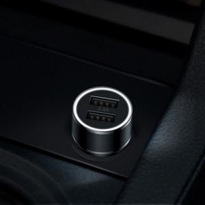 Incarcator Auto Baseus Small Screw Dual USB, 3.4 A, Negru 2 x USB, Incarcare rapida