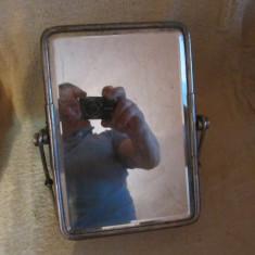 oglinda veche din alama si cristal bizotat x46