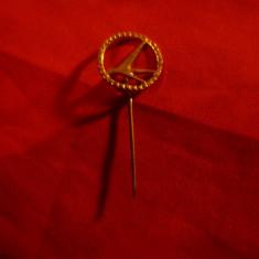 Insigna Aviatie , metal aurit , d=1,6cm