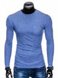 Bluza pentru barbati, din bumbac, albastru, simpla, slim fit - L103, L, M, S, XL, XXL