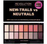Paleta farduri pleoape Makeup Revolution New-Trals vs Neutrals