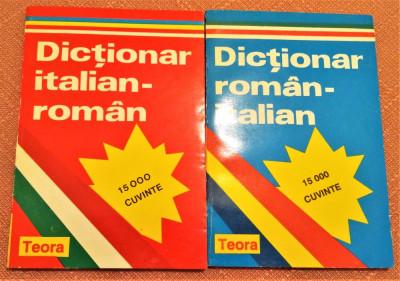 Dictionar Italian-Roman si Dictionar Roman-Italian - Editura Teora, 1994 foto