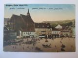 Carte postala Brașov -Piata Libertatii,circulata 1924