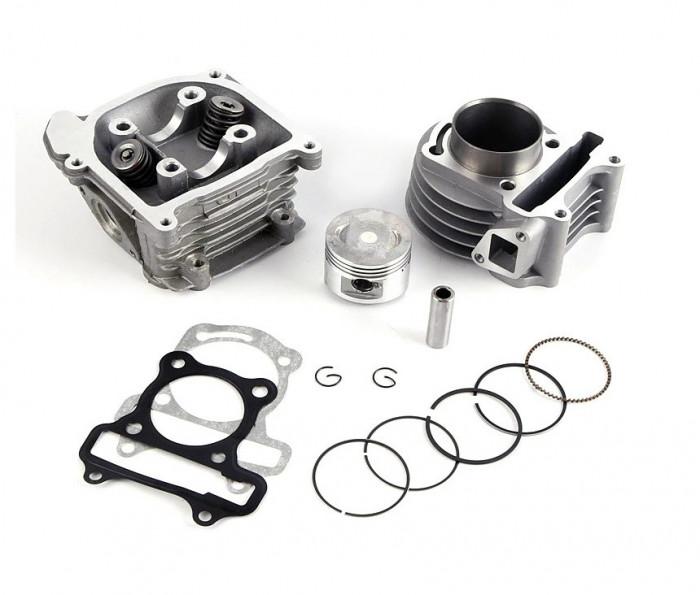 Kit Cilindru Set Motor + Chiuloasa Scuter Chinezesc Gy6 4T 80cc 47mm