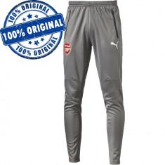 Pantalon Puma Arsenal pentru barbati - pantaloni originali - conici, Gri, Lungi, Poliester