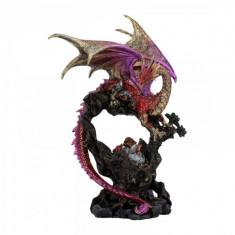 Statueta dragon Monarhul purpuriu 32 cm