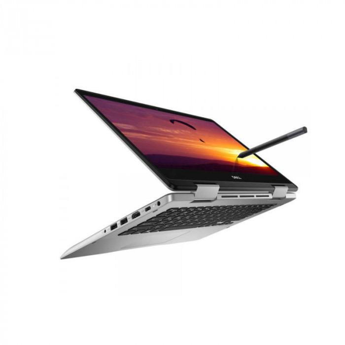 Laptop Dell Inspiron 5491 2-in-1 14 inch FHD Touch Intel Core i7-10510U 8GB DDR4 512GB SSD FPR Windows 10 Home 3Yr CIS Platinum Silver