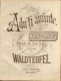 Adu-ti Aminte Vals Cantat Carol Scrob Waltteufel Partitura Muzica Romaneasca