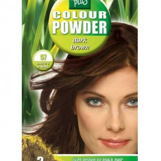 Pudra De Par Permanenta Naturala HennaPlus 57 Dark Brown