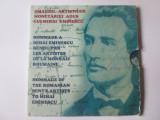 Cumpara ieftin Raritate! Set 4 medalii UNC folder M.Eminescu 2000:Omagiul artistilor monetariei