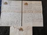 Scrisoare familia regala romana,antet in relief,8 pagini in plicul original,1917