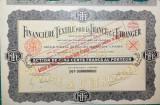 Lot Actiuni Finantator Textil 1934 (Franta)