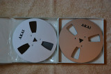 Banda magnetofon logo AKAI 18cm metal silver -nr2