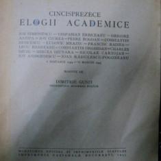 CINCISPREZECE ELOGII ACADEMICE ROSTITE DE DIMITRIE GUSTI ,1945