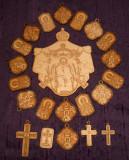 Sf. Parascheva - 21 pandantive gravate de lemn sfintite de IPS Ioachim Bacauanul