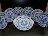 SET / SERVICIU TORT DIN PORTELAN TIRSCHENREUTH BAVARIA FARFURII SI PLATOU