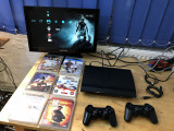 CONSOLA SONY PLAYSTATION 3 SLIM  MODEL  CECH-4004A + 2 MANETE + 7 JOCURI GTA 4