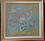 Tablou vechi semnat Nedel (pictura pe panza), Abstract, Ulei