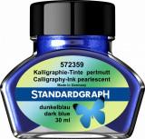 Cerneala perlata caligrafie albastru inchis Standardgraph