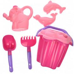 """Set jucarii cu galetusa si unelte pentru nisip """"Castle"""" cu 7 accesorii - 8101ROZ"""