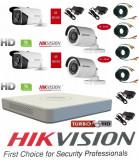 Cumpara ieftin Kit 4 camere supraveghere Hikvision Exterior + DVR 4 canale HDTVI Turbo HD HikVision + Surse + Cablu sertizat