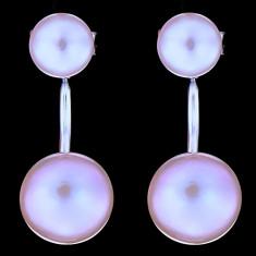 Cercei din Argint 925 cu Perle Naturale, Moana Purple