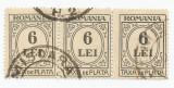 România, LP IV.14d/1926, Taxă de plată, tip. negru, h. albă, eroare 7, oblit.