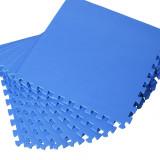 Covor puzzle copii, Set 8 buc, Albastru