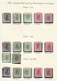 Romania 1919  Ferdinand I-lot  supratipar  varietati