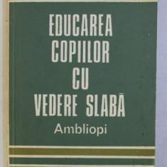 EDUCAREA COPIILOR CU VEDERE SLABA . AMBLIOPI de MIRCEA STEFAN , 1981