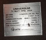Joc vechi de TV marca UNIVERSUM - nu stiu daca functioneaza
