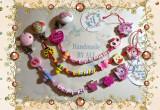 Lant handmade pentru suzeta,personalizat cu numele copilului