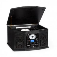 Auna Sistem audio NR-620 Retro Record Player CD MP3,negru
