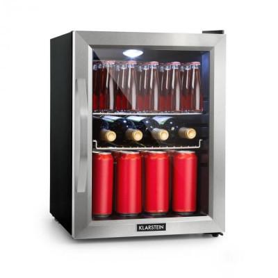 Klarstein Beersafe M, frigider, A++, LED, 2 rafturi metalice, ușă din sticlă, negru foto