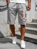 Pantaloni scurți gri bărbați Bolf QN230A