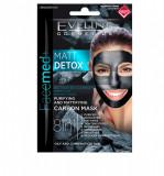 Cumpara ieftin Masca de fata, Eveline Cosmetics, MATT DETOX 8in1, 10 ml