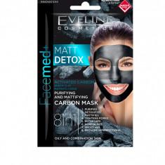 Masca de fata, Eveline Cosmetics, MATT DETOX 8in1, 10 ml