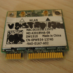 Placa wireless laptop Dell Vostro 1720, DW1510, 0PW934, Broadcom BCM94322HM8L