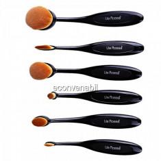Set 6 Pensule Profesionale Ovale pentru Machiaj Lila Rossa LR0601