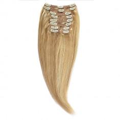 Clip-on Par Natural MegaVolum 60cm 240gr Blond Miere suvitat/Blond Deschis #27/60