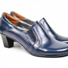 Pantofi de dama eleganti, din piele naturala, cu toc de 6 cm - PDT9110